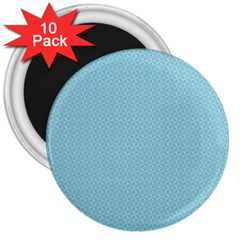 Blue Pattern Background Texture 3  Magnets (10 Pack)
