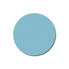 Blue Pattern Background Texture Rubber Round Coaster (4 Pack)