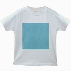 Blue Pattern Background Texture Kids White T Shirts