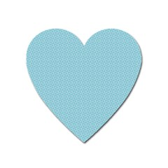 Blue Pattern Background Texture Heart Magnet by Nexatart