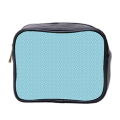 Blue Pattern Background Texture Mini Toiletries Bag 2 Side by Nexatart