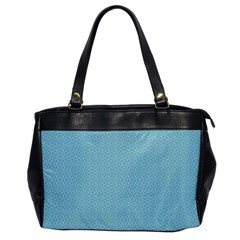 Blue Pattern Background Texture Office Handbags