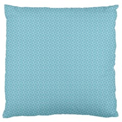 Blue Pattern Background Texture Large Cushion Case (one Side)