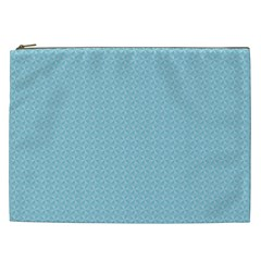 Blue Pattern Background Texture Cosmetic Bag (xxl)