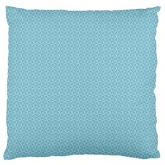 Blue Pattern Background Texture Large Flano Cushion Case (one Side) by Nexatart
