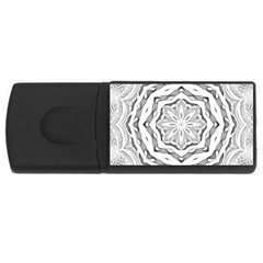 Mandala Pattern Floral Rectangular Usb Flash Drive