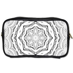 Mandala Pattern Floral Toiletries Bags by Nexatart
