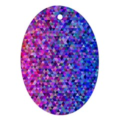 Triangle Tile Mosaic Pattern Ornament (oval) by Nexatart