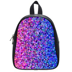Triangle Tile Mosaic Pattern School Bag (small) by Nexatart