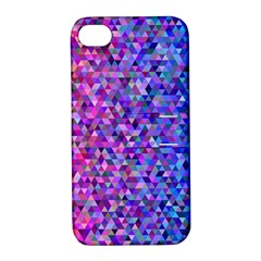 Triangle Tile Mosaic Pattern Apple Iphone 4/4s Hardshell Case With Stand by Nexatart