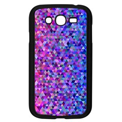 Triangle Tile Mosaic Pattern Samsung Galaxy Grand Duos I9082 Case (black) by Nexatart