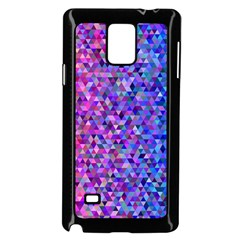 Triangle Tile Mosaic Pattern Samsung Galaxy Note 4 Case (black)