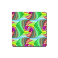 Seamless Pattern Twirl Spiral Square Magnet by Nexatart