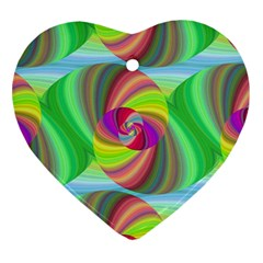 Seamless Pattern Twirl Spiral Heart Ornament (two Sides) by Nexatart