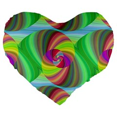 Seamless Pattern Twirl Spiral Large 19  Premium Flano Heart Shape Cushions by Nexatart