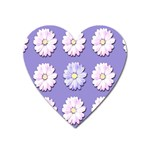 Daisy Flowers Wild Flowers Bloom Heart Magnet Front