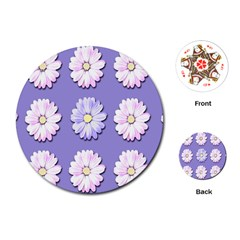 Daisy Flowers Wild Flowers Bloom Playing Cards (round)  by Nexatart