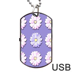 Daisy Flowers Wild Flowers Bloom Dog Tag Usb Flash (one Side)