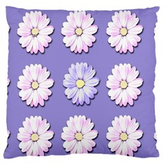 Daisy Flowers Wild Flowers Bloom Large Flano Cushion Case (one Side)