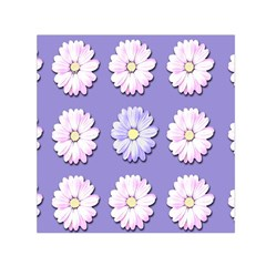 Daisy Flowers Wild Flowers Bloom Small Satin Scarf (square) by Nexatart