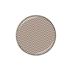 Chevron Retro Pattern Vintage Hat Clip Ball Marker by Nexatart