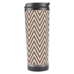 Chevron Retro Pattern Vintage Travel Tumbler by Nexatart
