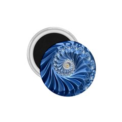 Blue Fractal Abstract Spiral 1 75  Magnets