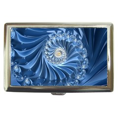 Blue Fractal Abstract Spiral Cigarette Money Cases