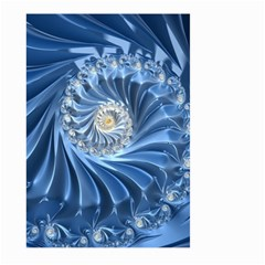 Blue Fractal Abstract Spiral Large Garden Flag (two Sides) by Nexatart