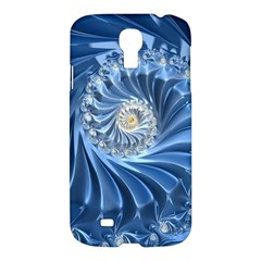 Blue Fractal Abstract Spiral Samsung Galaxy S4 I9500/i9505 Hardshell Case by Nexatart