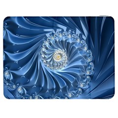 Blue Fractal Abstract Spiral Samsung Galaxy Tab 7  P1000 Flip Case by Nexatart