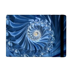 Blue Fractal Abstract Spiral Ipad Mini 2 Flip Cases by Nexatart