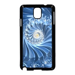Blue Fractal Abstract Spiral Samsung Galaxy Note 3 Neo Hardshell Case (black)