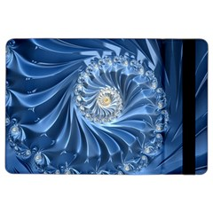 Blue Fractal Abstract Spiral Ipad Air 2 Flip by Nexatart