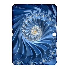 Blue Fractal Abstract Spiral Samsung Galaxy Tab 4 (10 1 ) Hardshell Case  by Nexatart