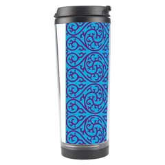 Monogram Blue Purple Background Travel Tumbler by Nexatart