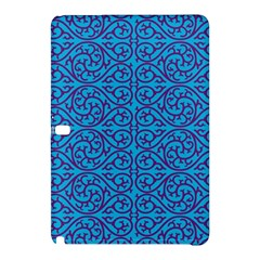 Monogram Blue Purple Background Samsung Galaxy Tab Pro 12 2 Hardshell Case by Nexatart
