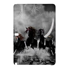 Awesome Wild Black Horses Running In The Night Samsung Galaxy Tab Pro 12 2 Hardshell Case by FantasyWorld7