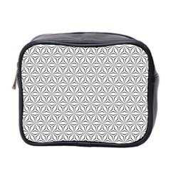 Seamless Pattern Monochrome Repeat Mini Toiletries Bag 2-side