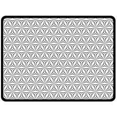 Seamless Pattern Monochrome Repeat Fleece Blanket (large)  by Nexatart