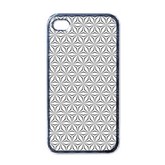Seamless Pattern Monochrome Repeat Apple Iphone 4 Case (black) by Nexatart
