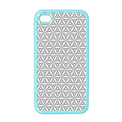 Seamless Pattern Monochrome Repeat Apple Iphone 4 Case (color) by Nexatart