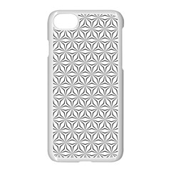 Seamless Pattern Monochrome Repeat Apple Iphone 7 Seamless Case (white) by Nexatart