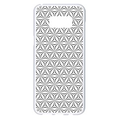 Seamless Pattern Monochrome Repeat Samsung Galaxy S8 Plus White Seamless Case by Nexatart
