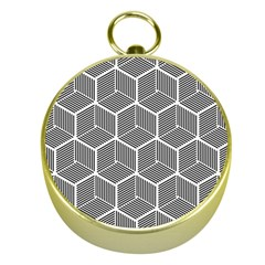 Cube Pattern Cube Seamless Repeat Gold Compasses