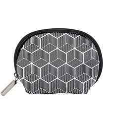 Cube Pattern Cube Seamless Repeat Accessory Pouches (small)  by Nexatart
