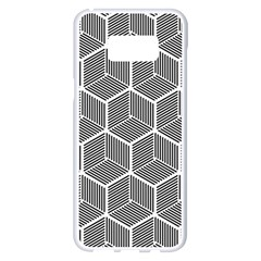 Cube Pattern Cube Seamless Repeat Samsung Galaxy S8 Plus White Seamless Case