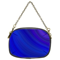 Blue Background Abstract Blue Chain Purses (two Sides)