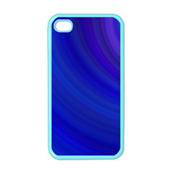 Blue Background Abstract Blue Apple Iphone 4 Case (color)