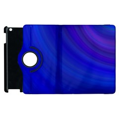 Blue Background Abstract Blue Apple Ipad 2 Flip 360 Case